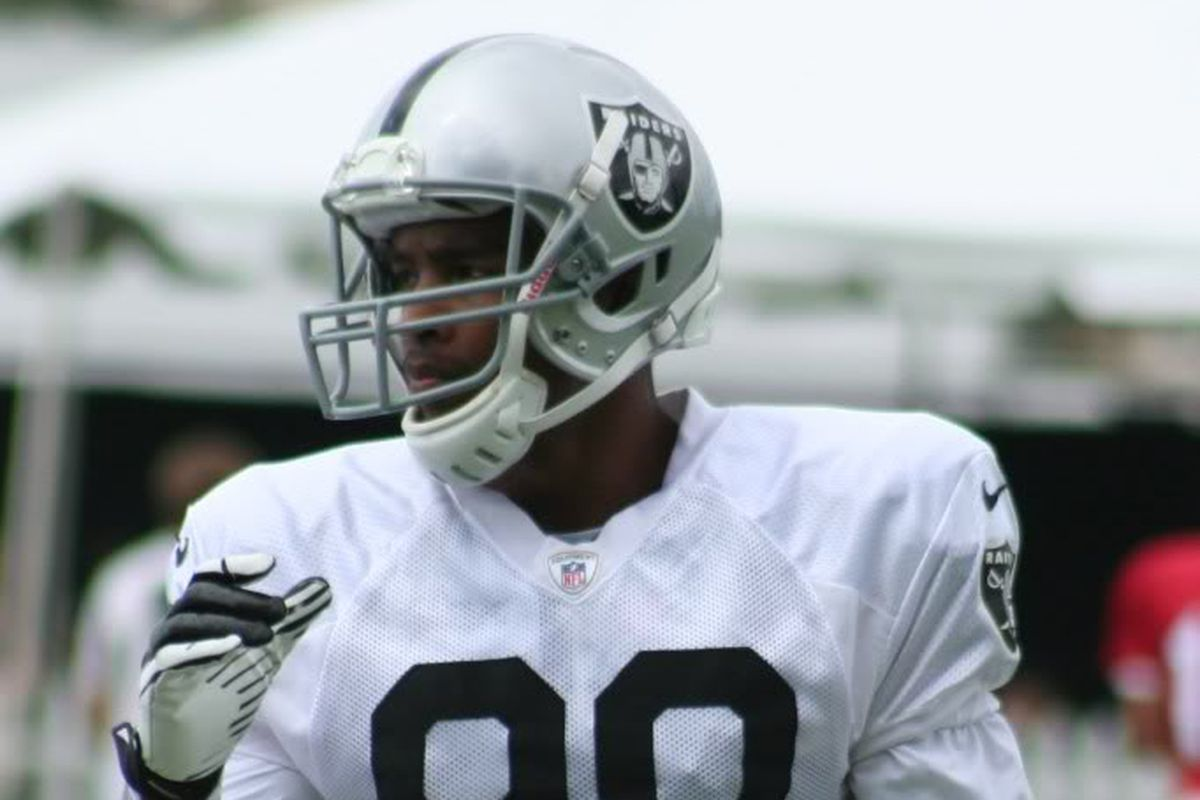 Oakland Raiders wide receiver Rod Streater at training camp