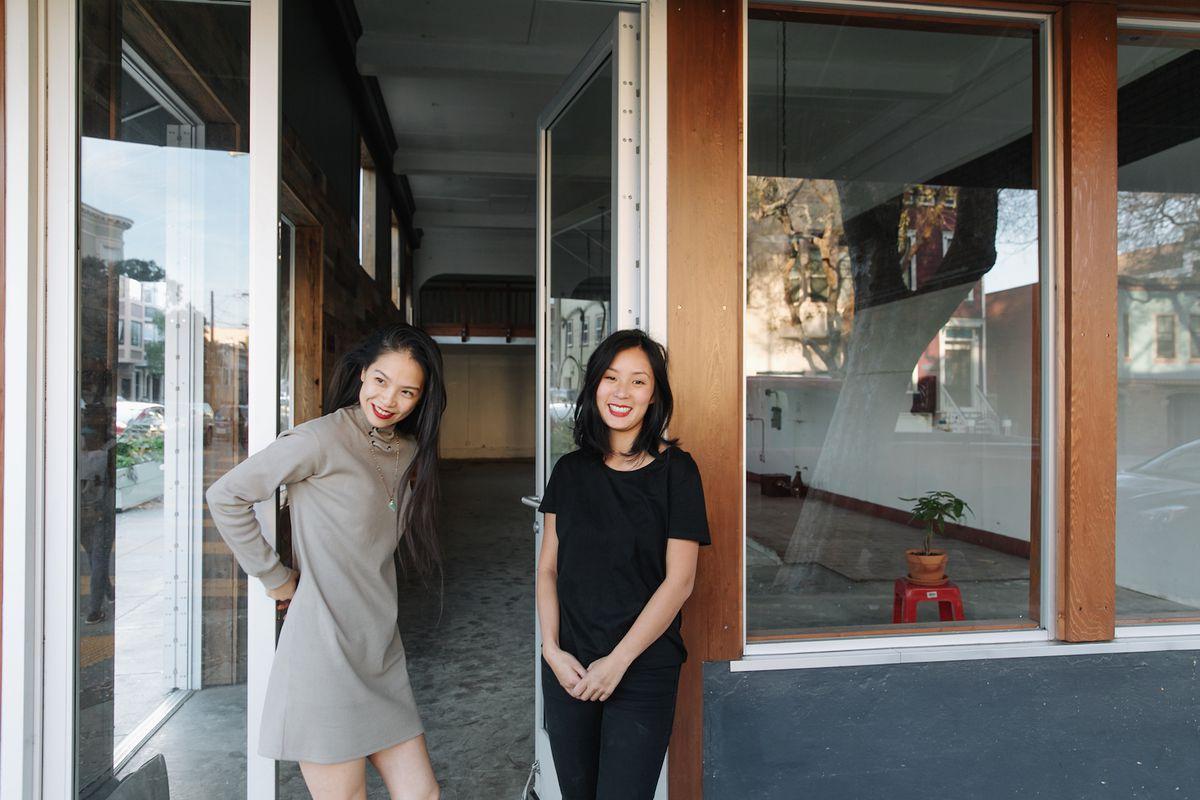 Katie Kwan and Valerie Luu at Rice Paper Scissors