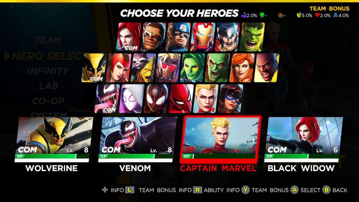 Marvel Ultimate Alliance 3 hero unlock list and order guide