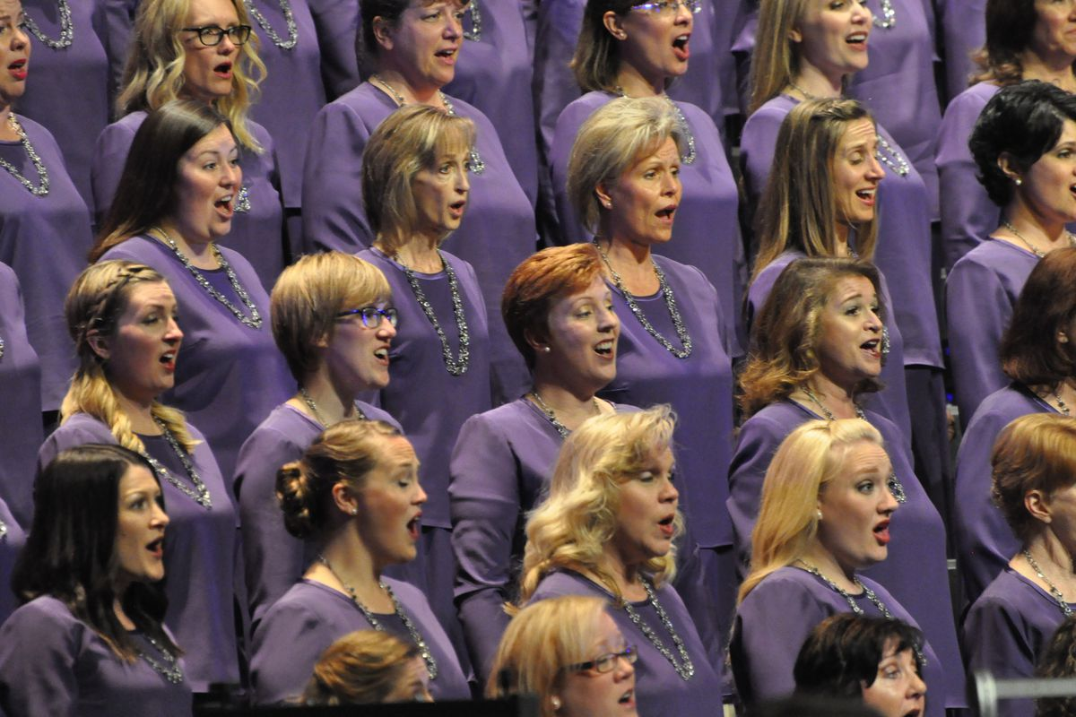The Mormon Tabernacle Choir and Orchestra at Temple Square performed June 30, 2018, at the Orpheum Theatre in Vancouver, Canada.