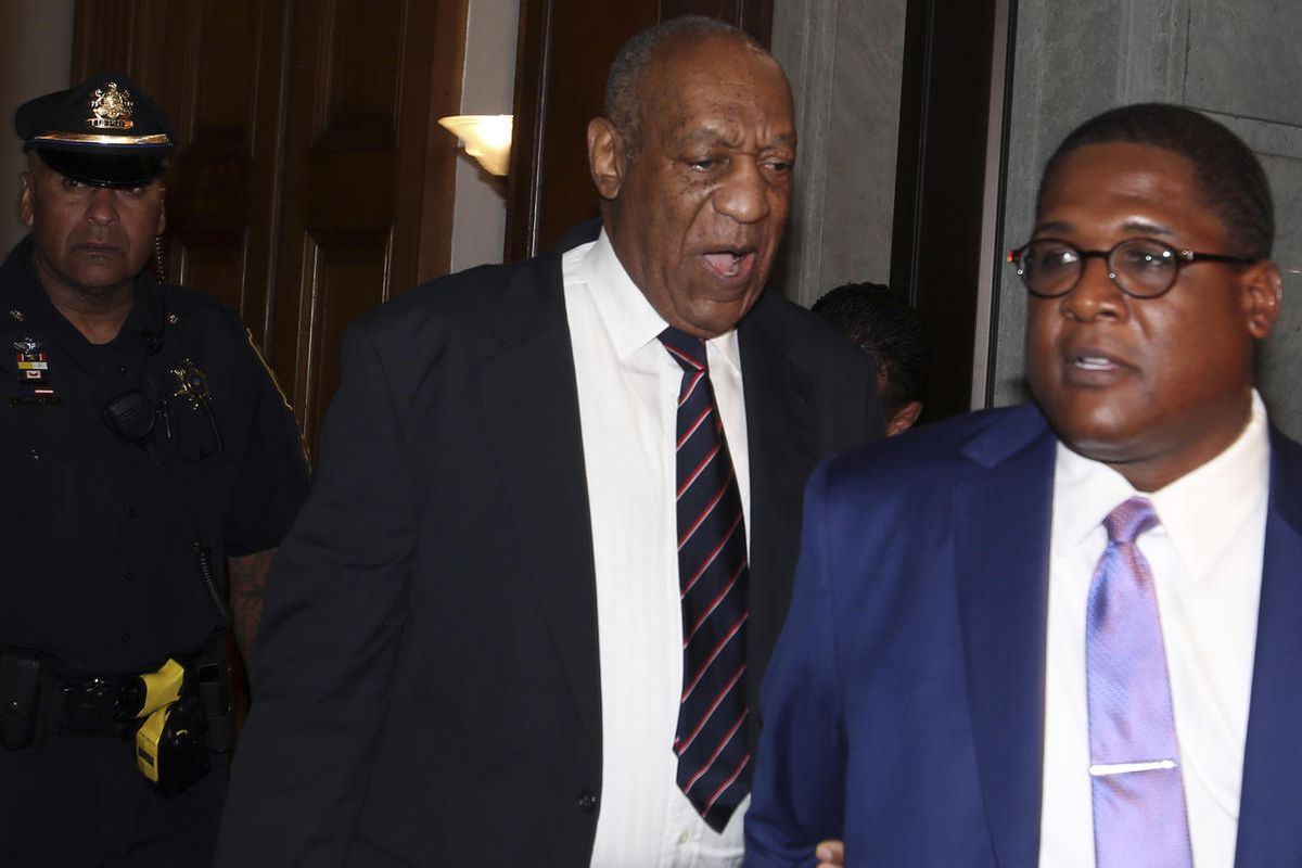 Bill Cosby leaves the Montgomery County Courthouse in Norristown Pa., Monday June 12, 2017. The jury at Cosby's trial began deliberating Monday over whether he drugged and molested a woman more than a decade ago in a case that has already helped demolish