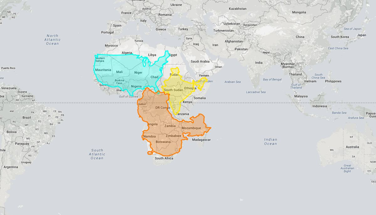 This interactive website shows how wrong mercator projections can be the true size of africa is larger than you may realize gumiabroncs Image collections