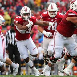 UW run blocking was again strong. Seven Badger tailbacks, three wide receivers and two quarterbacks all had positive net yardage, finishing with 348 total.
