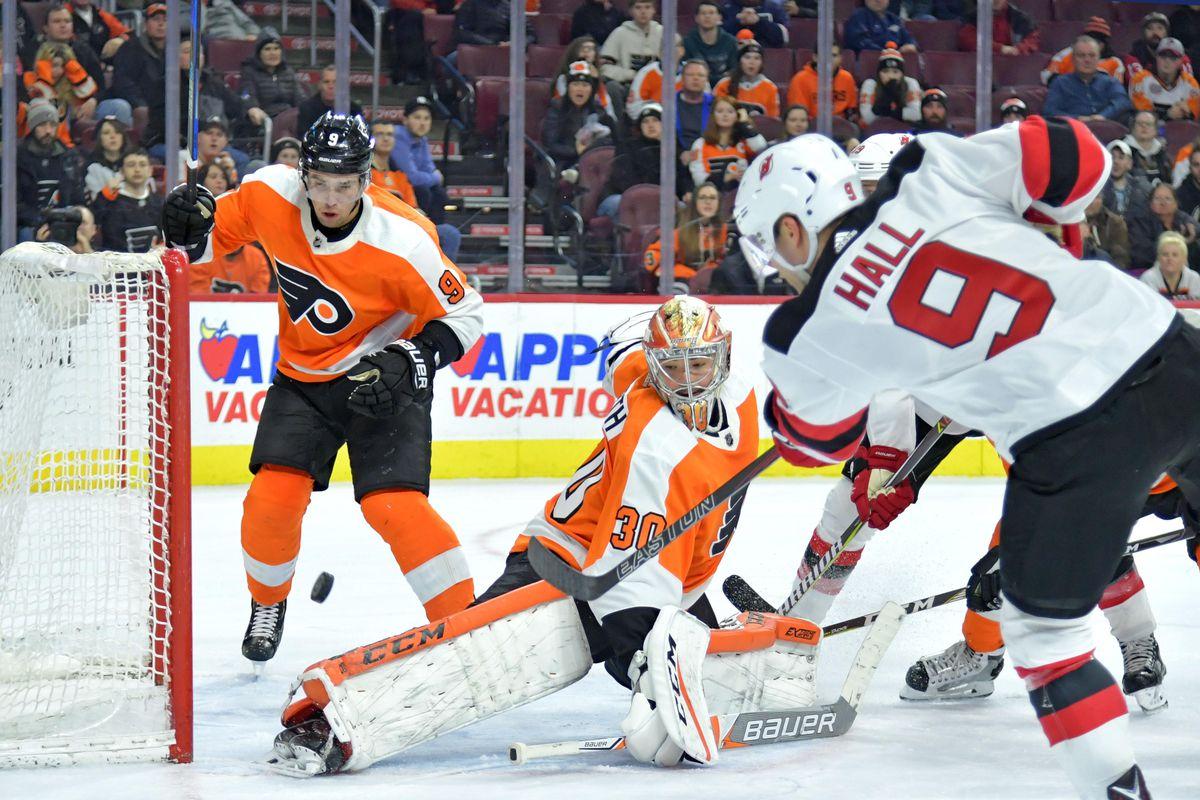 NHL: New Jersey Devils at Philadelphia Flyers