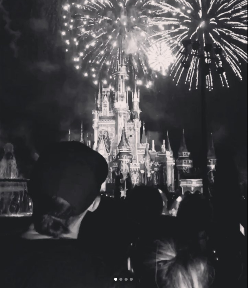 The Bryants watched fireworks together in Disney on Monday. | Kris Bryant/Instagram