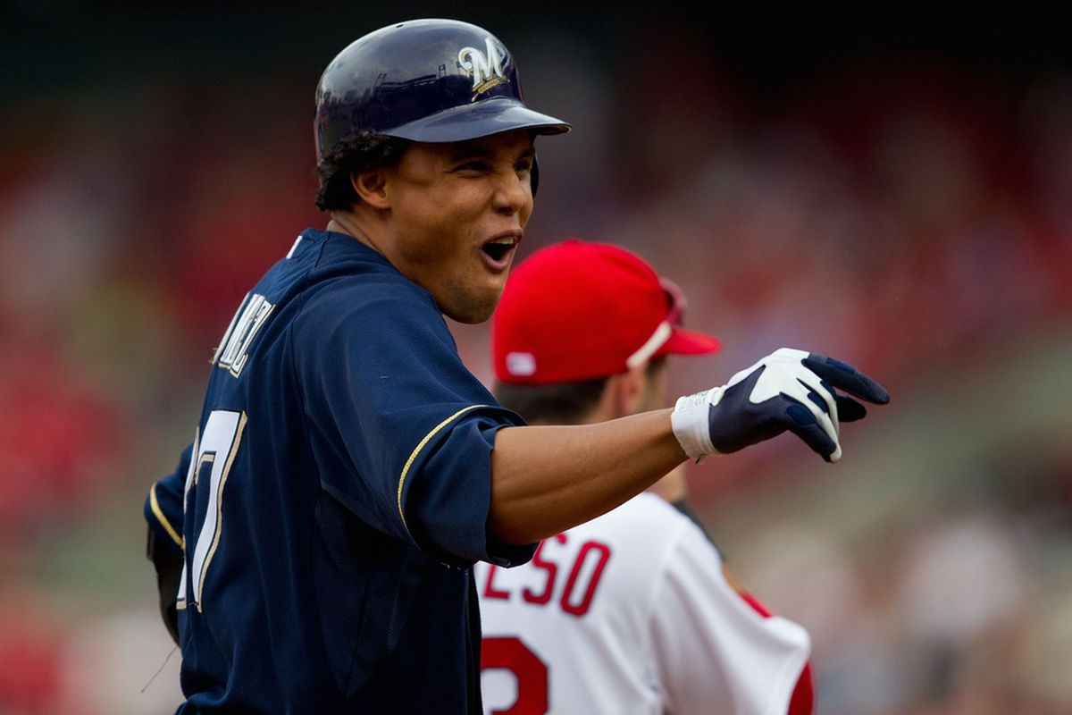 Winning on the road is fun. Just look at how happy it made Carlos Gomez.