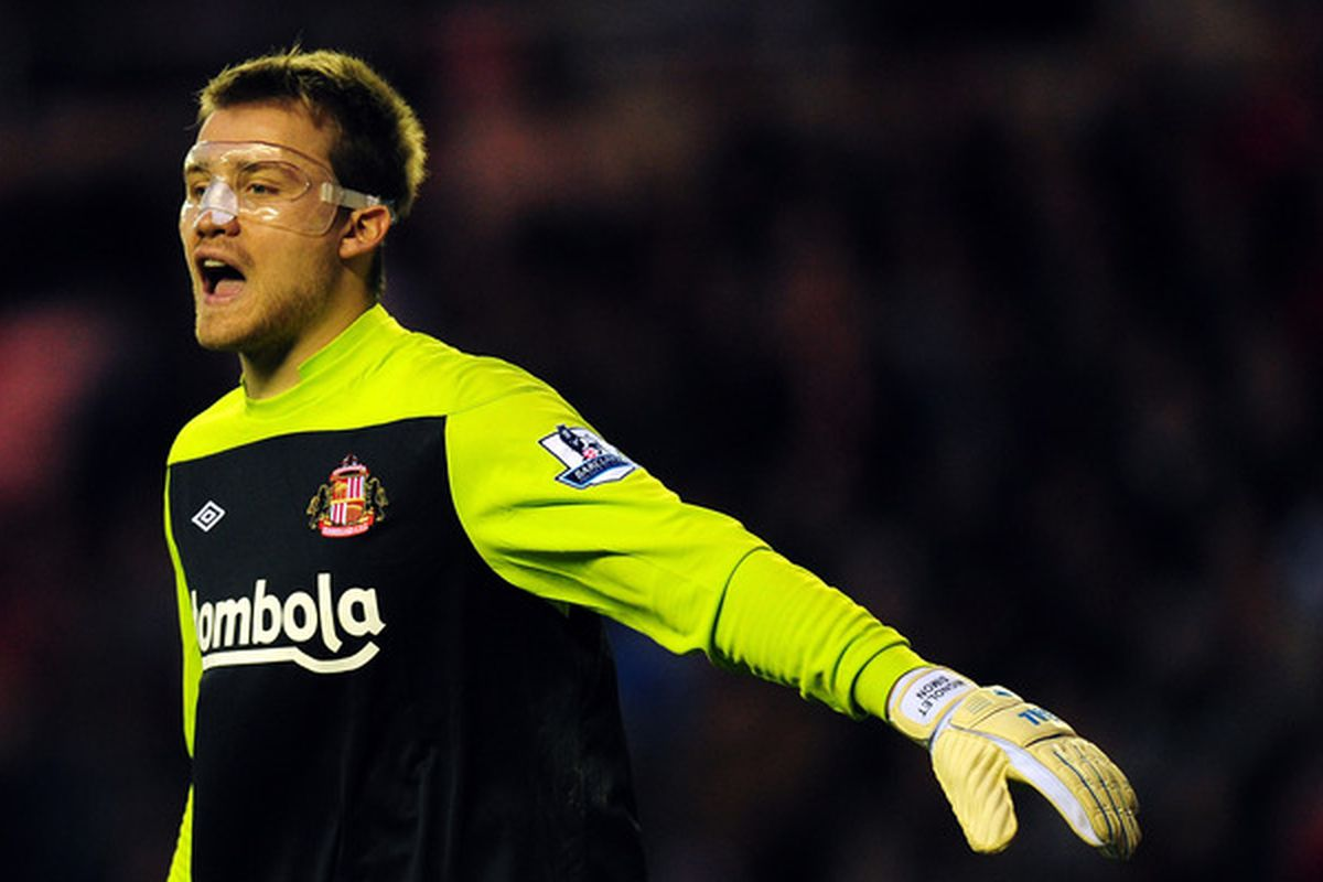 Mignolet wore a mask once and yet somehow this is the first time we've used this photo. Shame on us.
