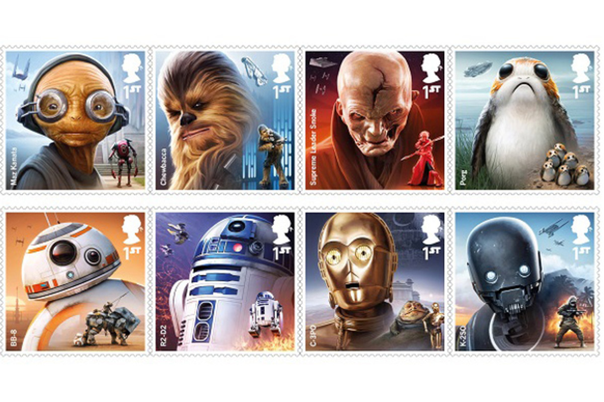 Uk S Postal Service Reveals A Bunch Of Cute Star Wars Stamps