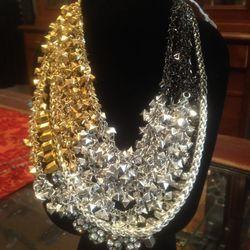 Assad Mounser mixed metal statement necklace, $400
