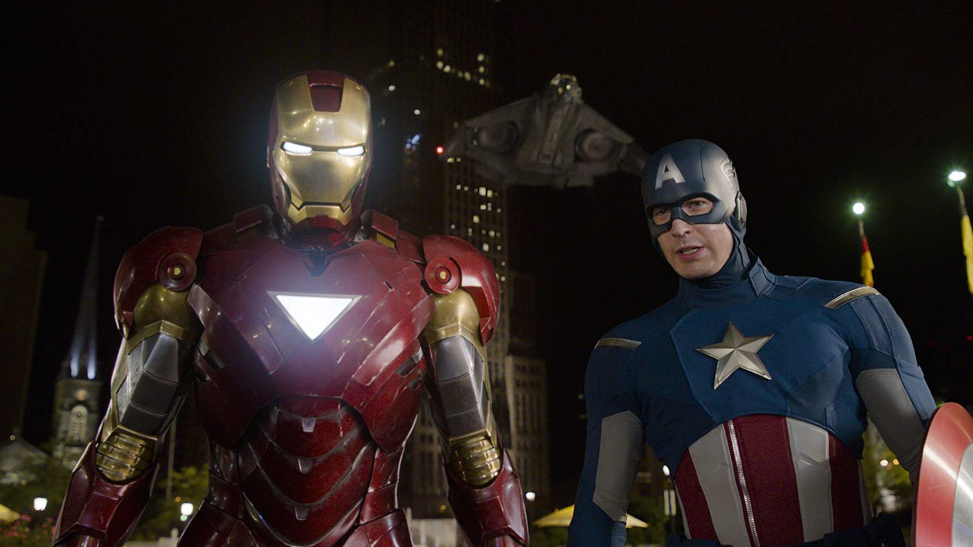 Steve was the foundation on which the Avenger team was built, so he's the first Iron Man in the alternate continuity.