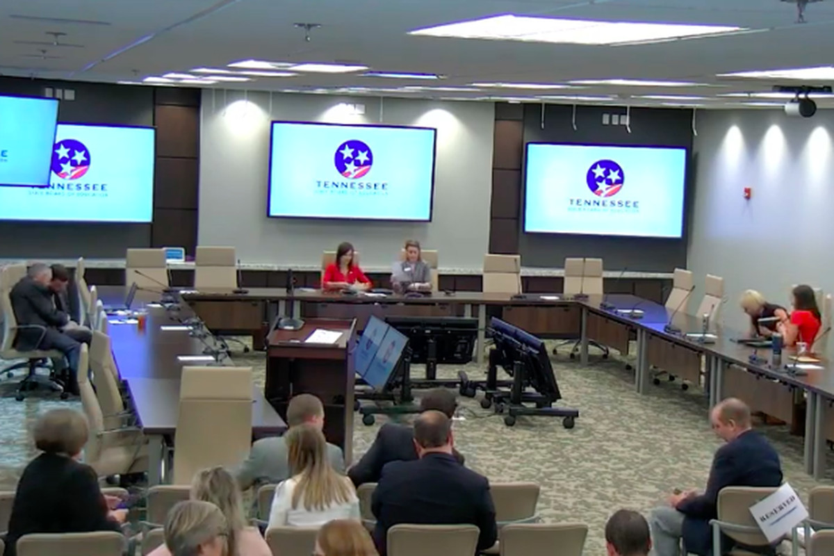 An Oct. 1 public hearing in Nashville draws a small crowd to discuss proposed rules for Gov. Bill Lee's education savings account program. The state Board of Education continued to receive written feedback on the 14-page document through Oct. 14.