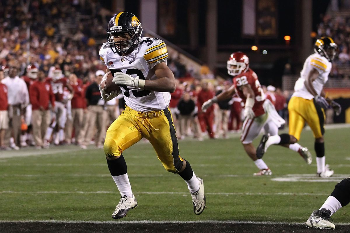 """Imagine how many more touchowns Canzeri will score now that he's no longer a """"running back.""""  (Photo by Christian Petersen/Getty Images)"""