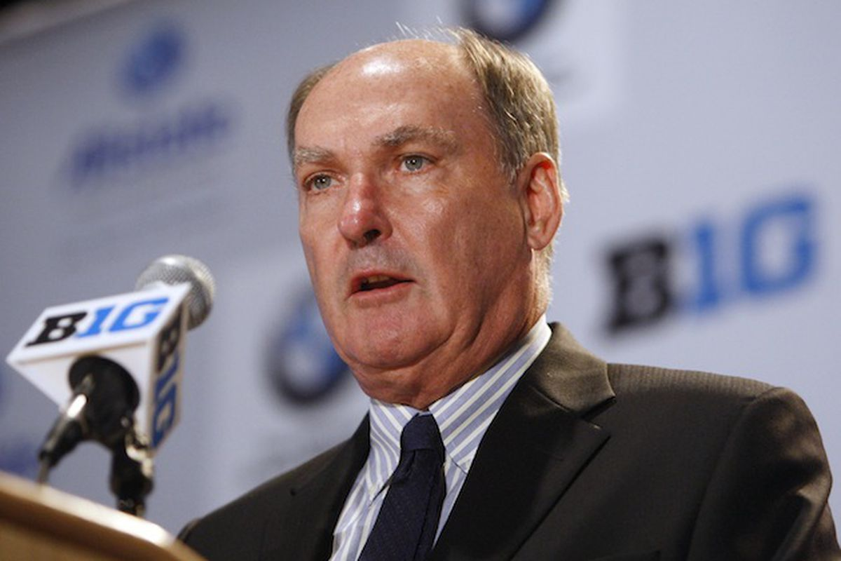 Jim Delany's soothsaying face (Jerry Lai/US Presswire)