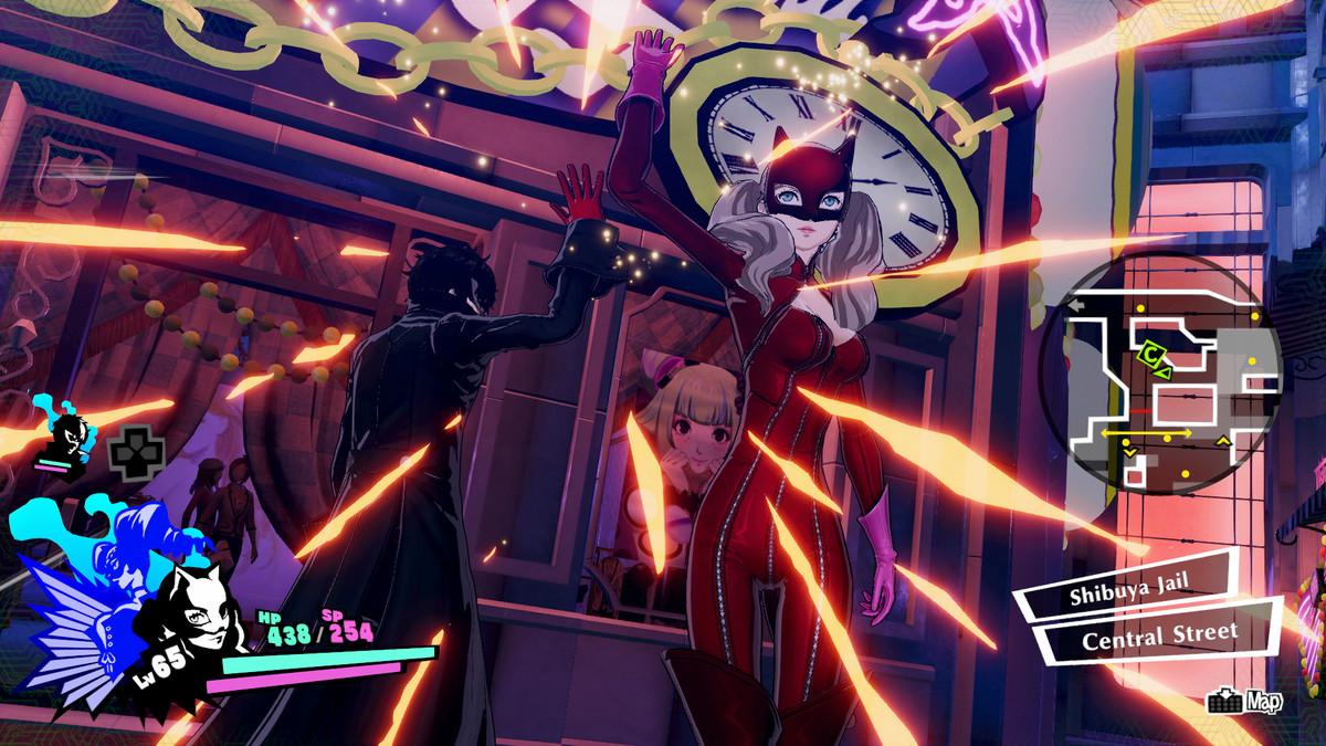 Joker and Ann battle in Persona 5 Strikers