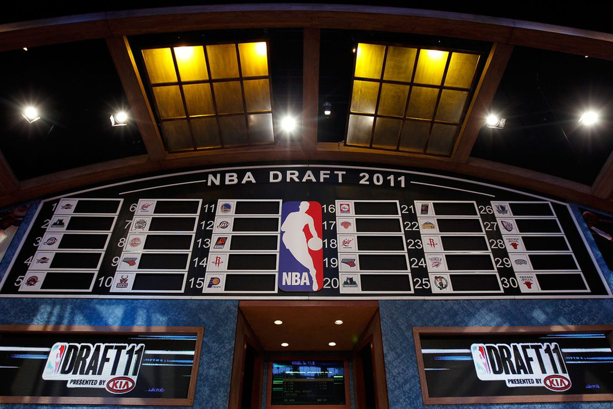 This NBA Draft Order is from 2011, but the point is that the board always starts blank. I believe a list of prospects has emerged for the Milwaukee Bucks when they pick at No. 12.