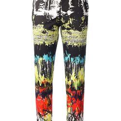 "Printed trousers, <a href=""http://www.farfetch.com/shopping/women/cedric-charlier-printed-trousers-item-10585019.aspx?storeid=9214"">Cedric Charlier</a>, $489"