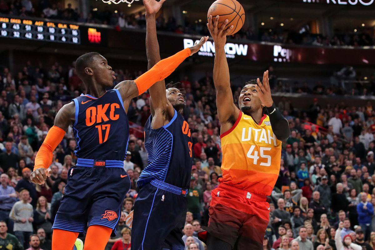 cdb21d35419 Utah Jazz suffer close loss at home to Oklahoma City Thunder - SLC Dunk