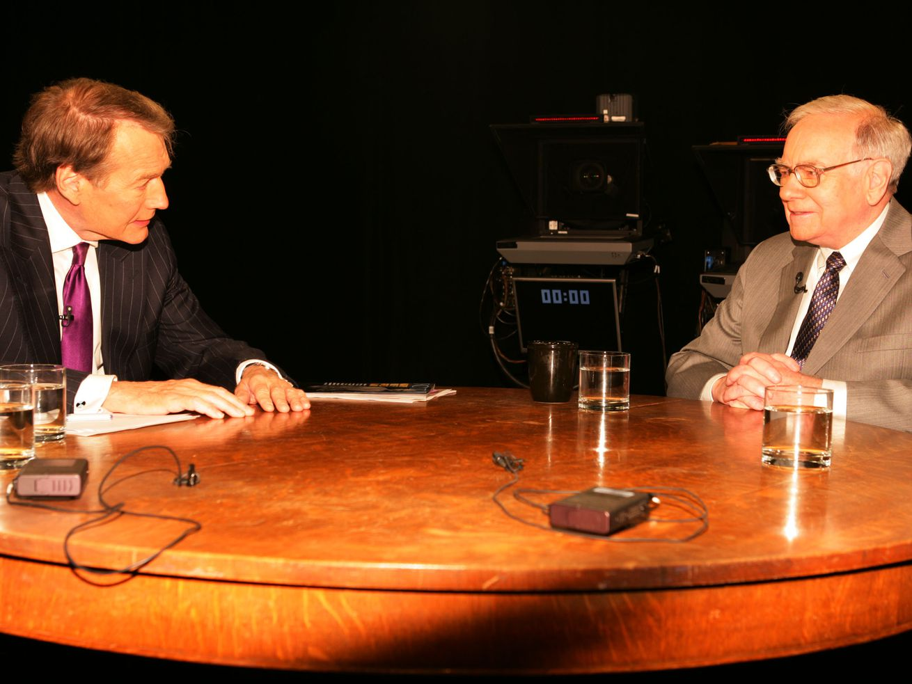 Charlie Rose and Warren Buffett during a 2006 interview. This year, both men are invited to attend Allen & Company's annual gathering in Sun Valley, Idaho.