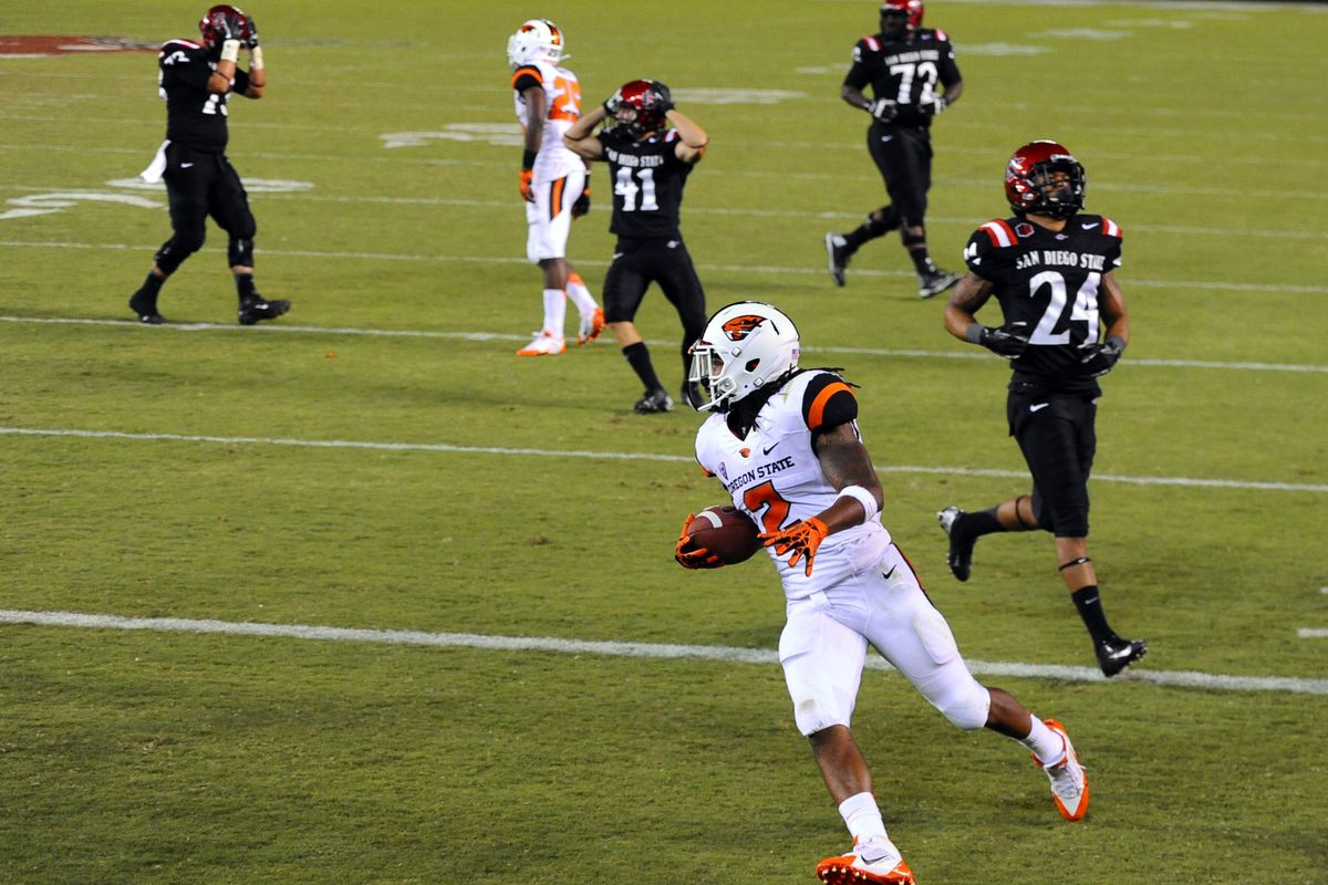 Steven Nelson's pick-six propelled OSU over SDSU last year. Can they repeat?