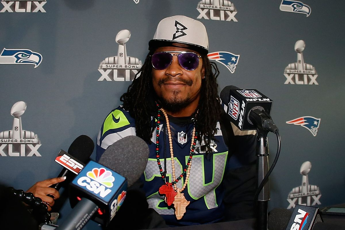 902065c444 Marshawn Lynch fined  75K for not talking to media after NFC Championship