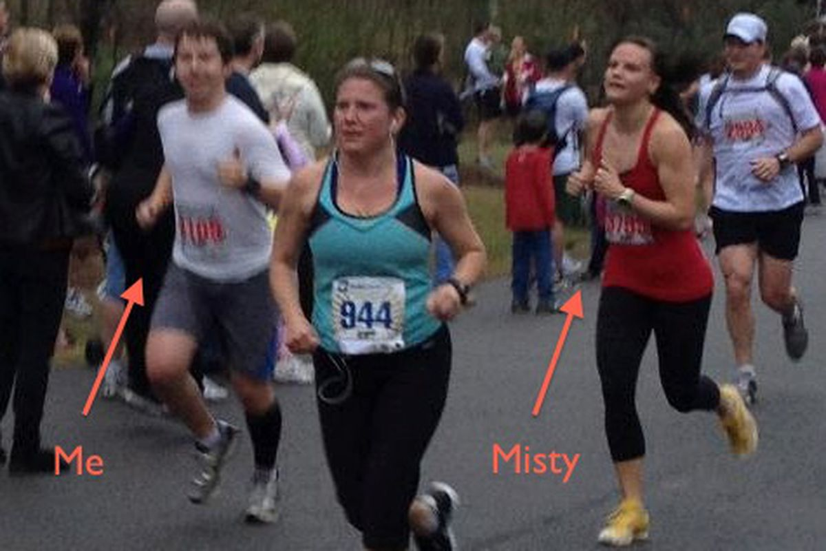 Finishing the race: pretty sure I'm not actually this blurry in real life