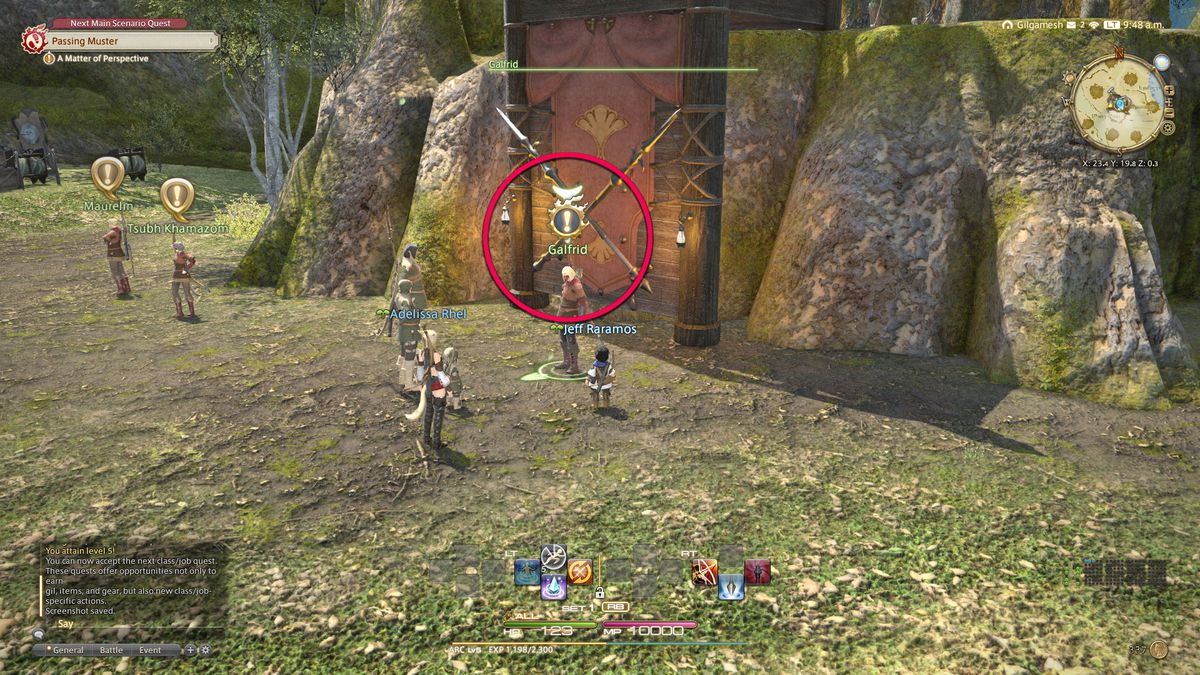 The main story quest icon in Final Fantasy 14
