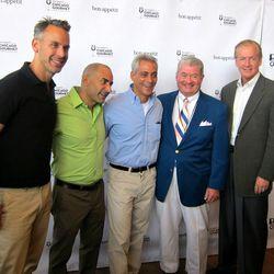 Bon Appetit Editor Adam Rapoport, Illinois Restaurant Association President Sam Toia and Mayor Rahm Emanuel kick off Chicago Gourmet