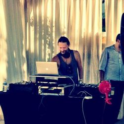 "Thom Yorke of Radiohead DJing. Photo via <a href=""https://twitter.com/#!/MilkStudios/status/194204754358968320/photo/1"">Twitter/Milk Studios</a>"