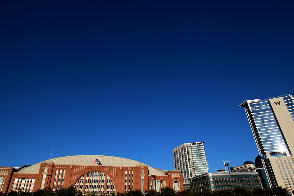 DALLAS, TX - OCTOBER 13:  A general view of American Airlines Center before a game between the St. Louis Blues and the Dallas Stars on October 13, 2011 in Dallas, Texas.  (Photo by Ronald Martinez/Getty Images)