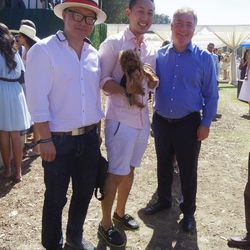 Jin Yu, David Lee with his furry pal, and a random new pal who got roped into taking this photo.