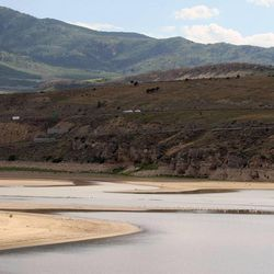 Echo Reservoir on Tuesday, June 25, 2013. Utah is facing drought conditions this summer.
