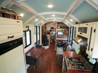 This school bus conversion may be the most impressive one yet