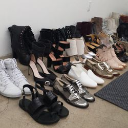 About the shoes: most pairs are priced from <b>$60 to $80</b>, with labels like Maison Martin Margiela's MM6, Robert Clergerie and Opening Ceremony in the mix. Accessories include <b>Eddie Borgo</b> accoutrements starting at <b>$70</b>, plus leather belts