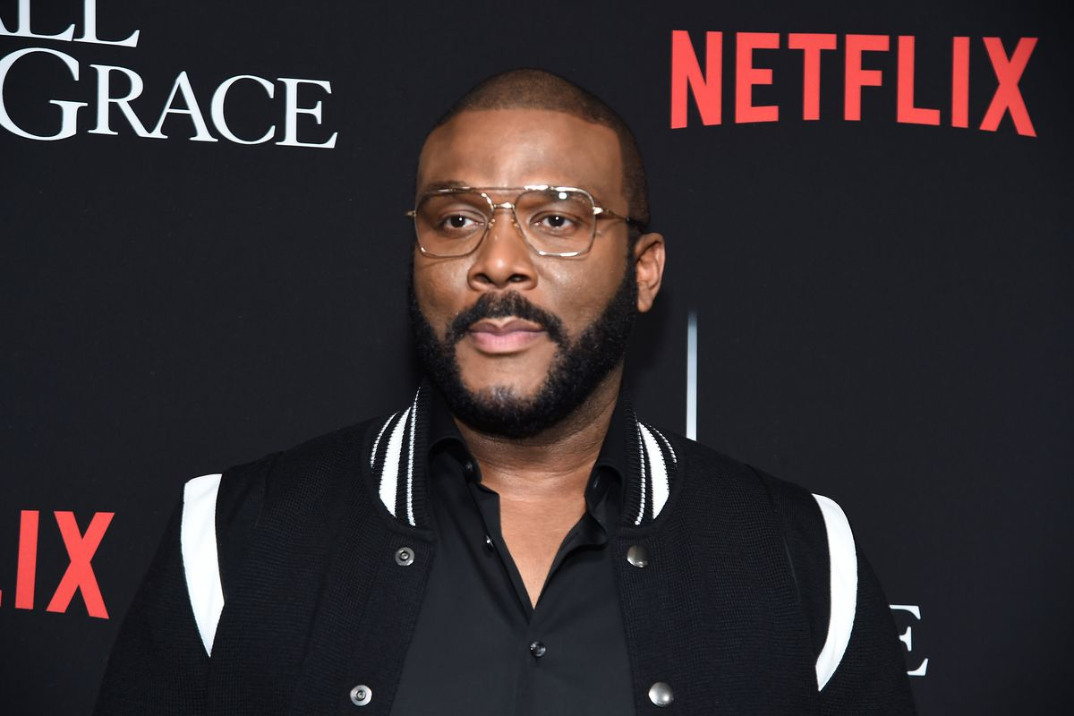 """Tyler Perry attends the premiere of Tyler Perry's """"A Fall From Grace"""" at Metrograph on January 13, 2020 in New York City."""