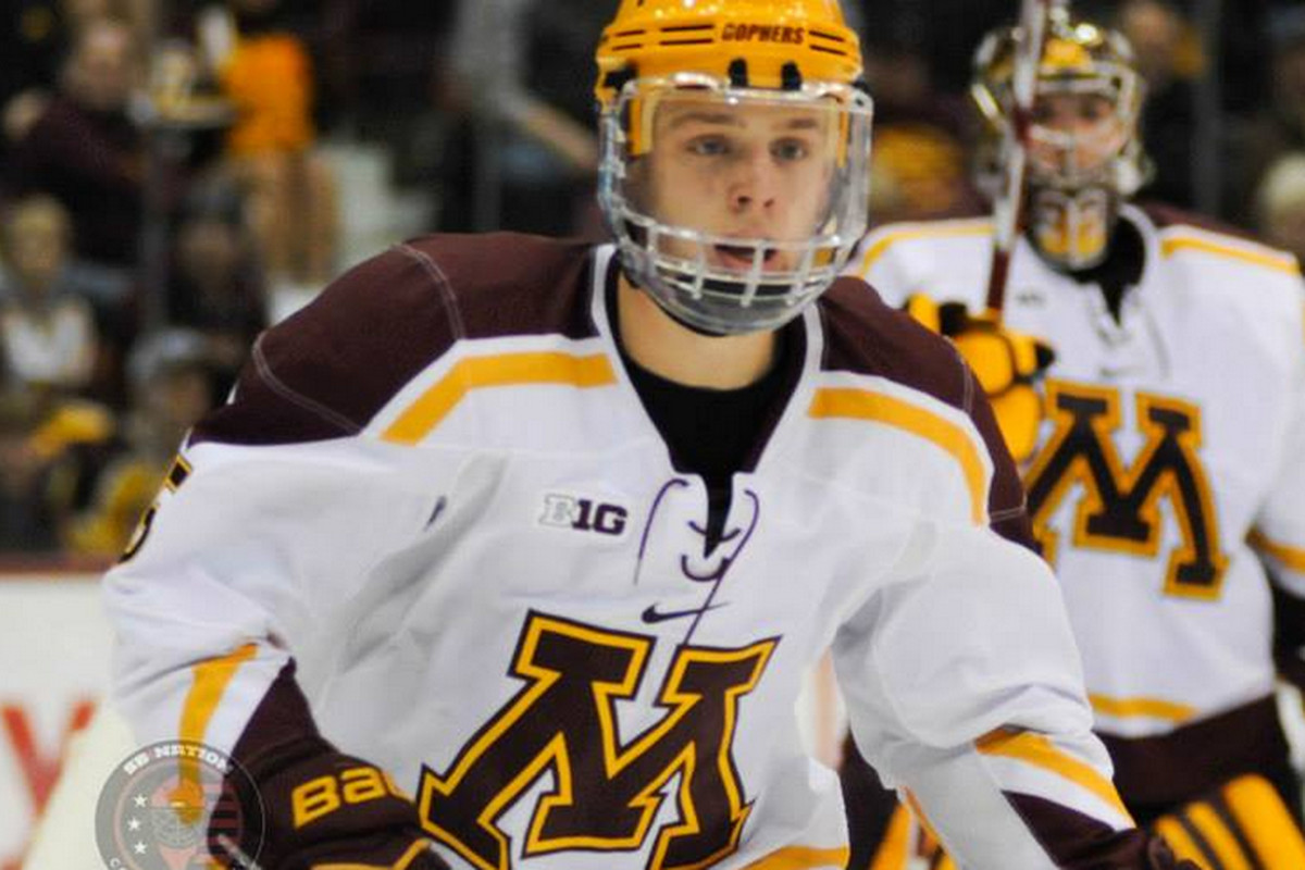 Minnesota defenseman Mike Reilly (5) will be honored Saturday for his first team All-American honor.