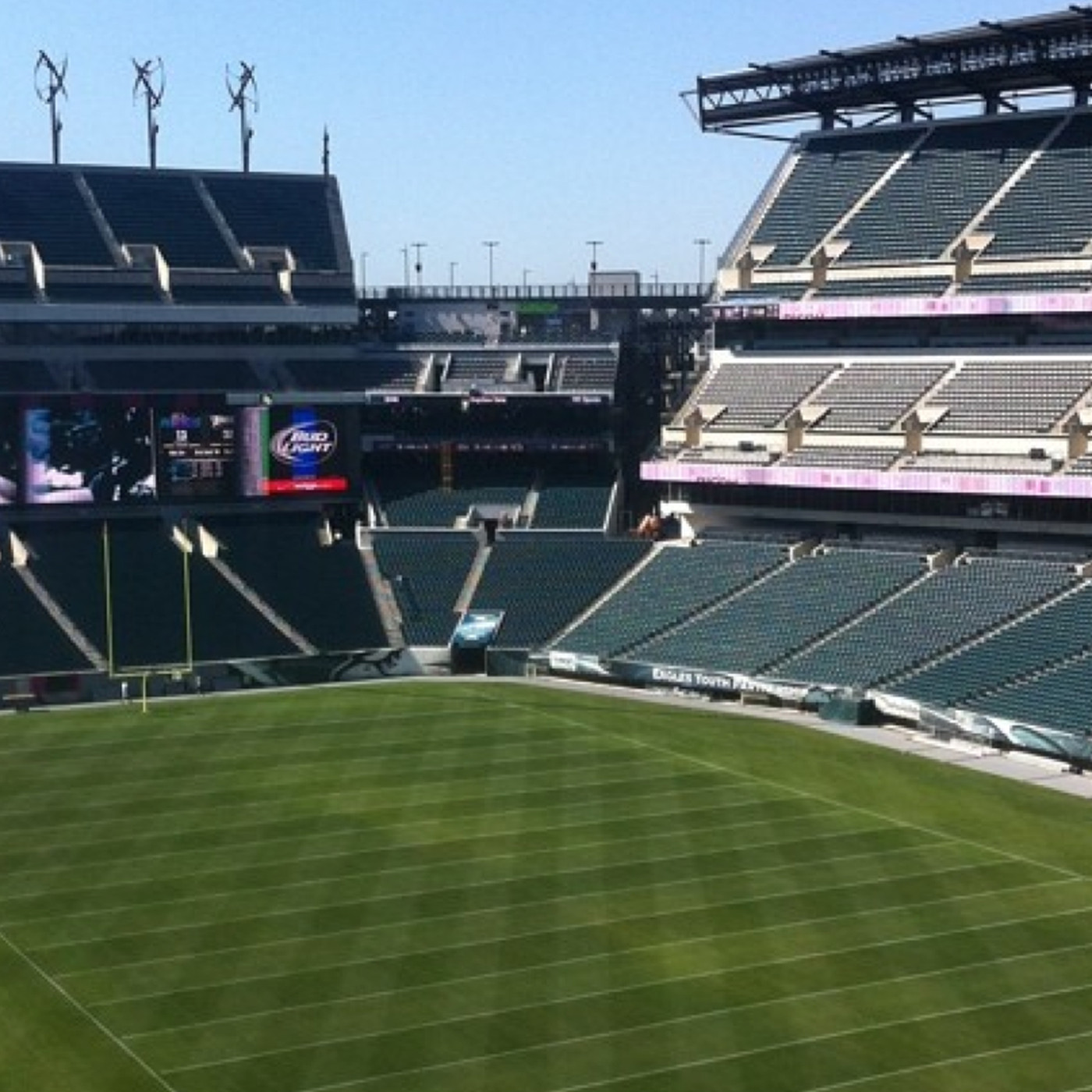 Lincoln Financial Field Stadium Sign Home of the Philadelphia Eagles Vintage