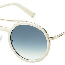 A white frame is a fresh way to cool off your summer look.