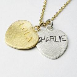 """Custom Conversation Heart Necklace, <a href=""""http://www.hannahblount.com/collections/candy/products/custom-conversation-heart-necklace#"""">$86</a>"""