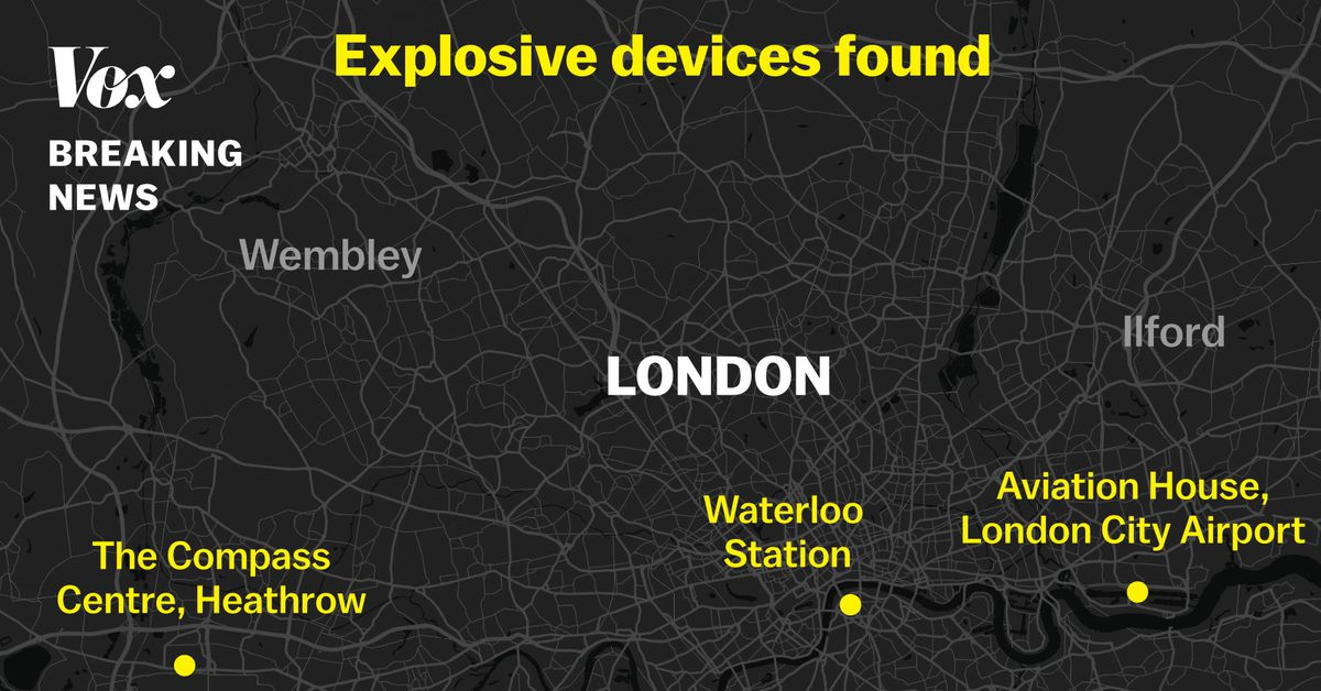 London explosives: devices found at three major transit hubs