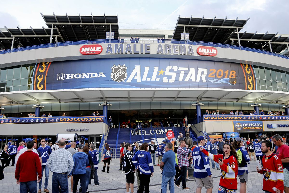 Fact vs. Fiction  Amalie Arena restricts away jerseys to areas outside of  Club seating 134d84a75070