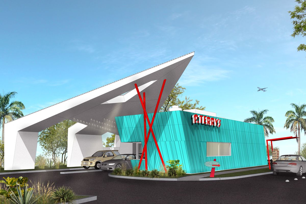 Rendering of P. Terry's new drive-thru-only restaurant