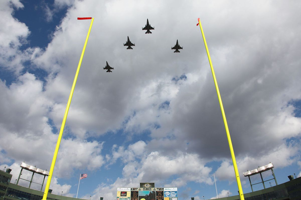 Every plane represents a missed red zone opportunity by the Rams.