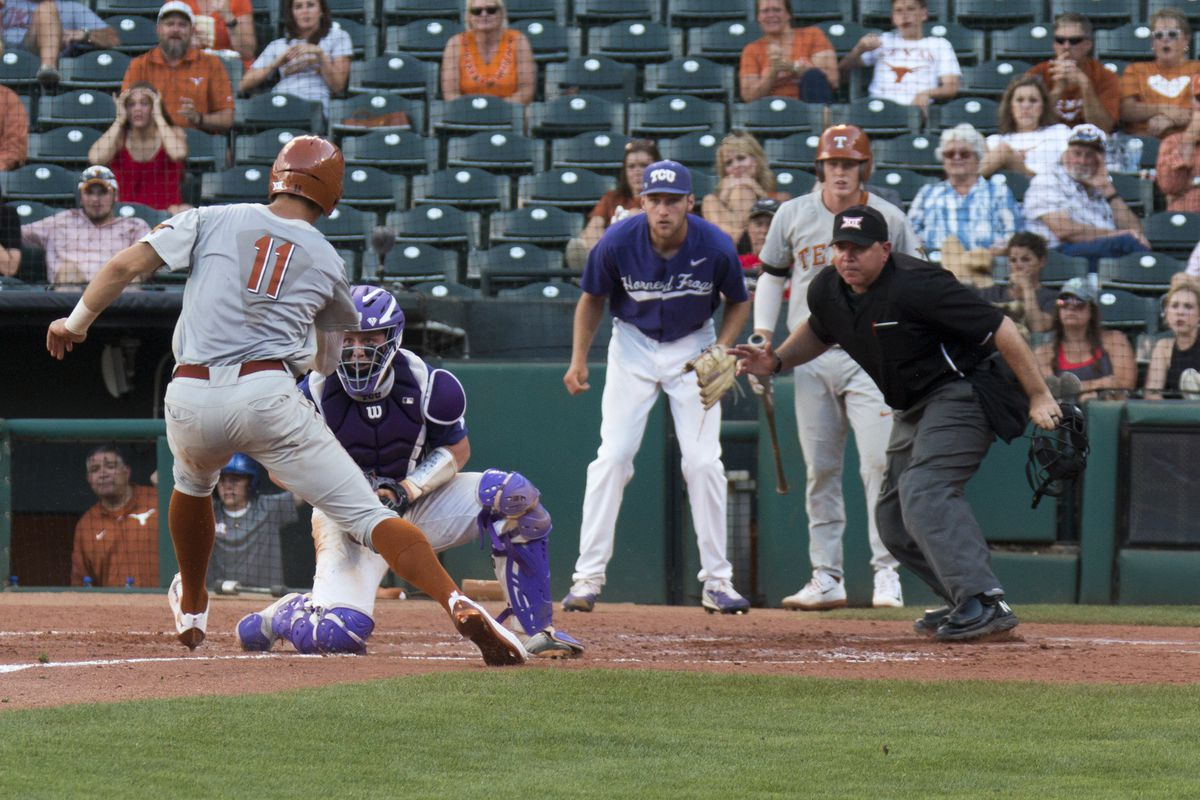 Texas beats TCU 9-3 to reach Big 12 title game