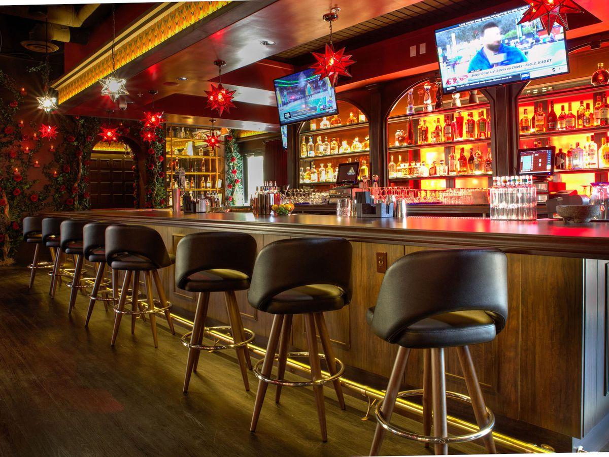 The bar at El Dorado Cantina