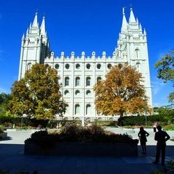 Salt Lake City Temple. Saturday afternoon session of the 183rd Semiannual General Conference for the Church of Jesus Christ of Latter-day Saints Saturday, Oct. 5, 2013 inside the Conference Center.