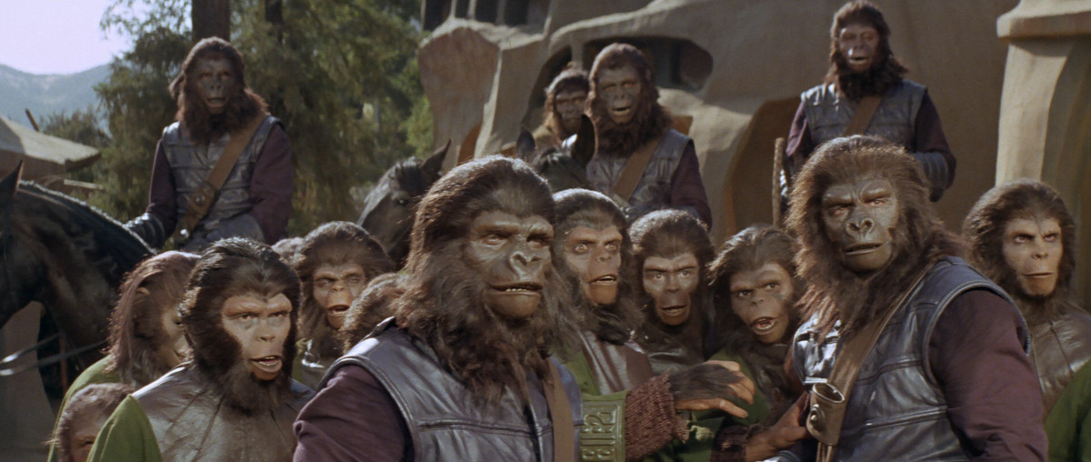 Shocked gorillas and chimps in the 1968 Planet of the Apes