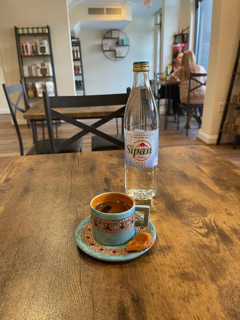 Yerevan offers spring mineral water from Armenia and strong coffee that's served with a piece of dried fruit