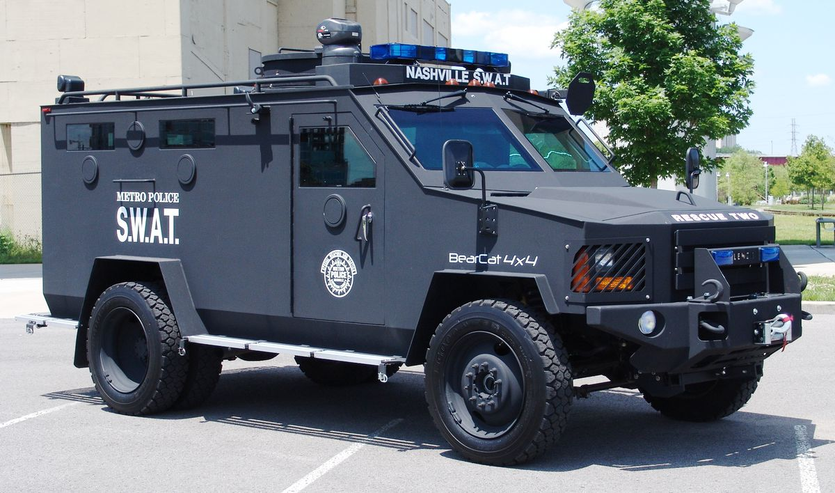 BearCat armored vehicle