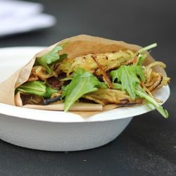 Nombe's ramen burger had the crowds lining up for a taste.