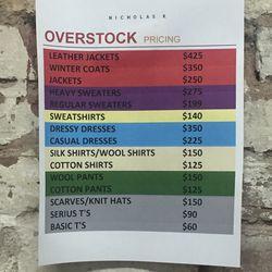 The overstock price list